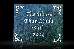 Cast Bronze Garden & Bench Plaque Linda