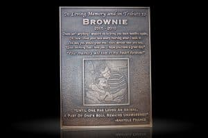 Embossed Cast Bronze Portrait Plaque Brownie