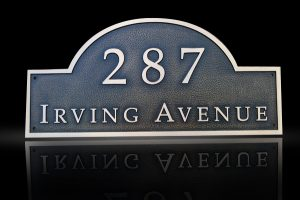 Custom & Personalized Bronze Address Plaque Irving Avenue