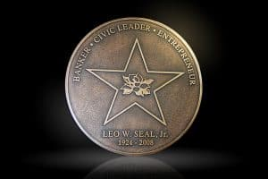 Cast Bronze & Aluminum Medallion & Seal Leo
