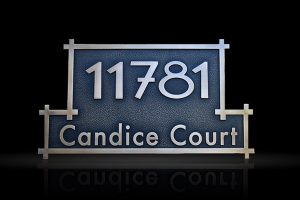 Custom & Personalized Bronze Address Plaque Candice Court