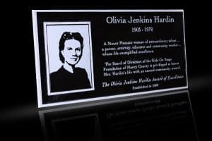 Cast Bronze Portrait Plaques with Metal Photo Olivia Harden