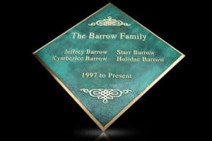 Custom Cast Bronze Memorial Plaque and Lawn Marker Barrow