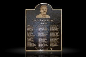 Cast Bronze Sculpted Portrait Plaques Dr. Robert Nugent