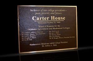 Personalized Cast Bronze Wall Plaque Carter House