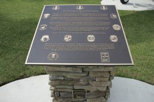 Custom Cast Bronze Memorial Plaque and Lawn Marker Eagle