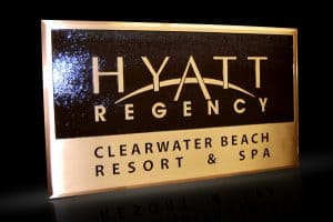Cast Bronze & Cast Aluminum Identification Plaque Hyatt