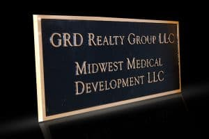 Cast Bronze & Cast Aluminum Identification Plaque GRD Realty