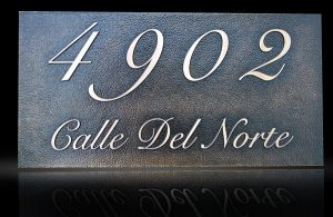 Custom & Personalized Bronze Address Plaque Calle Del Norte
