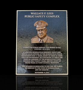 Cast Bronze Sculpted Portrait Plaque Wallace Lees