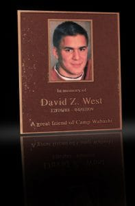 Cast Bronze Portrait Plaques with Metal Photo West