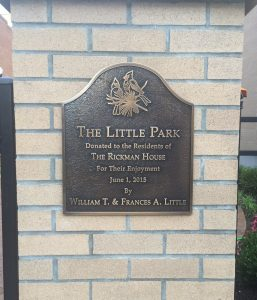 Personalized Cast Bronze Wall Plaque The Little Park