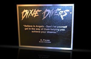 Cast Bronze & Cast Aluminum Identification Plaque Dixie Divers