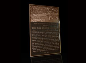 Embossed Cast Bronze Portrait Plaques Jeff Braun