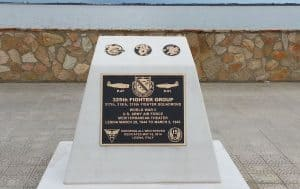 Custom Cast Bronze Memorial Plaque and Lawn Marker Fighter Group