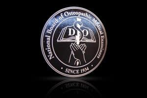 Cast Bronze & Aluminum Medallion & Seal Osteopathic