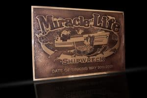 Personalized Cast Bronze Wall Plaque Miracle of Life