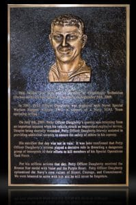 Cast Bronze Sculpted Portrait Plaque Daugherty