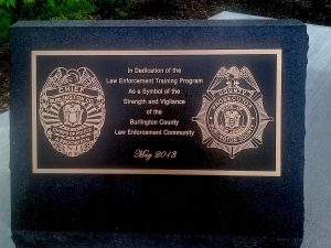 Custom Cast Bronze Memorial Plaque and Lawn Marker Burlington County