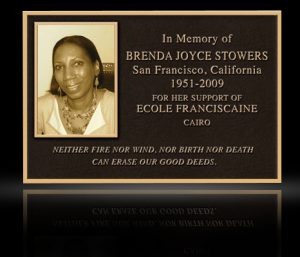 Cast Bronze Portrait Plaques with Metal Photo Stowers