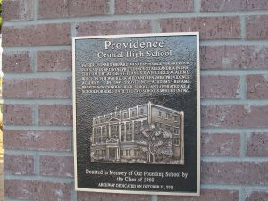 Personalized Cast Bronze Wall Plaque Providence High School