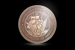 Cast Bronze Military Seal US Navy