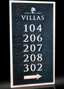 Custom & Personalized Bronze Address Plaques Villas